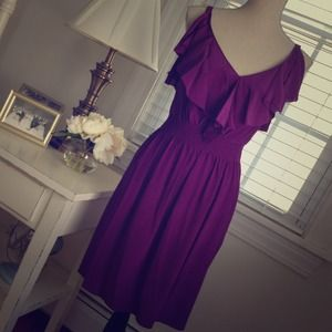 Rebecca Taylor $375 silk wisteria ruffle dress NWT