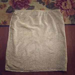 Gold bodycon skirt