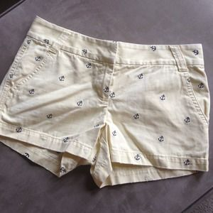 J.Crew Yellow Anchor-Embroidered Shorts