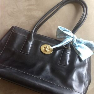 Black Leather Coach Handbag **NEWLY-REDUCED PRICE!