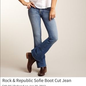 Rock & Republic bootcut jeans NWT
