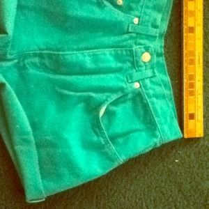 Teal High Waisted Shorts