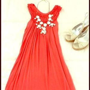 SOLD💃💃Summer Coral Shift  Dress 💃💃