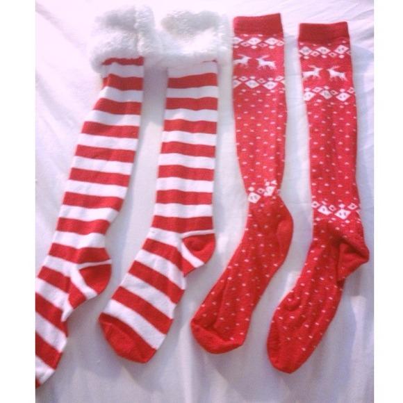 c8b59f93c Christmas themed knee high socks. M 51994661e4ebea393902d408