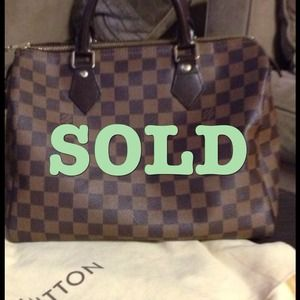 Authentic Louis Vuitton Speedy 30 Ebene