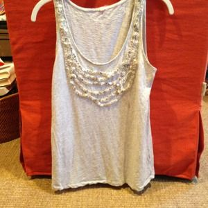 J Crew heather grey sparkle tank