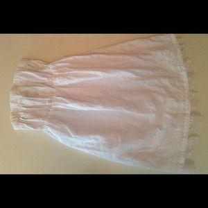 Dresses & Skirts - White eyelet strapless sundress.