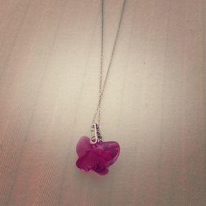 Pink butterfly shape necklace !!!