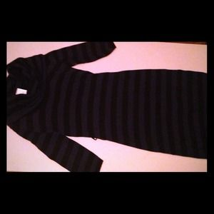 Dresses & Skirts - Navy and black striped sweater dress