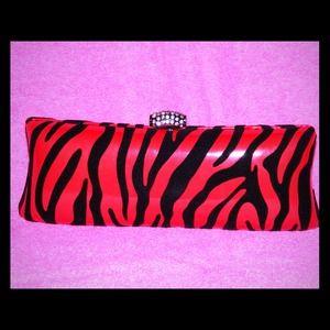Red Zebra Print Clutch