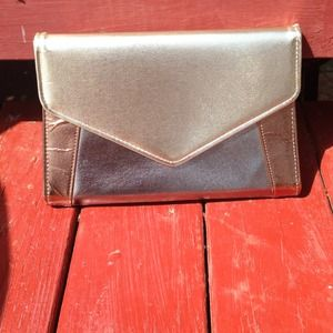Vintage Gold Metallic CrossBody purse