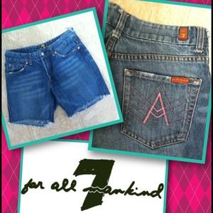 Distressed *7 For All Mankind* Jean Shorts 7FAM