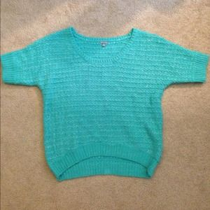 Mint sparkly oversized sweater !