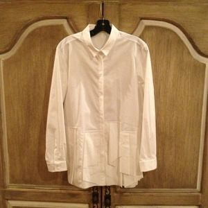 Piazza Sempione White Button Down Shirt 46 NWT