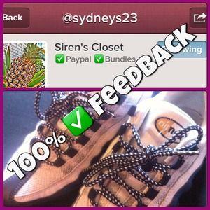 Other - Buyer's Feedback: @Sydneys23