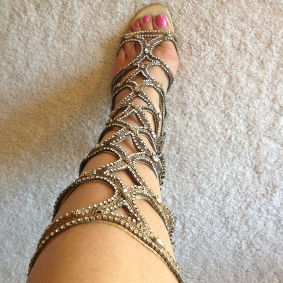 80% off Shoes - Egyptian style gold shoe from Angela's ...