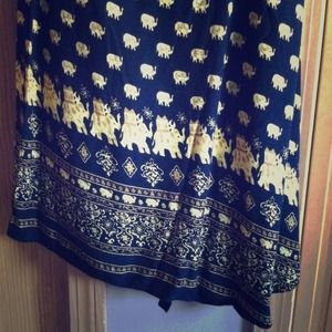 BUNDLED❌vintage black and gold elephant wrap skirt