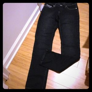 Reduced NWT Black skinny Jeans with bling