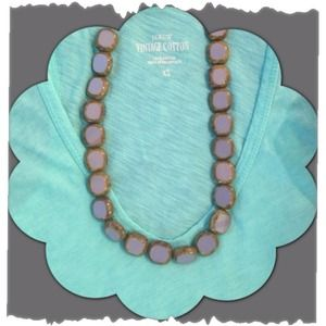 Tortoise shell and lavender statement necklace