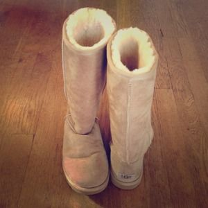 Classic Tall Ugg Boots Women's Size 8 Color Sand