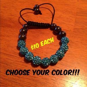 Jewelry - Shamballa bracelet you choose color!!