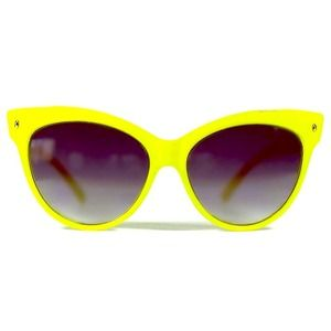 HOST PICK! Neon Yellow Cat Eye Sunglasses