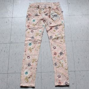 Light pink ankle skinny jeans