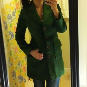 Vintage single breasted green coat