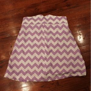 Dresses & Skirts - Purple Chevron Skirt + belt-- BUNDLE