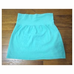 American apparel interlock miniskirt in mint green