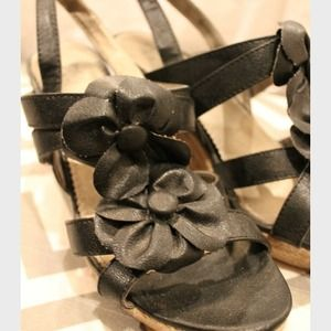 Shoes - REDUCED Black Wedges