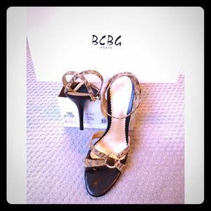 BCBG Strappy Cheetah Heel