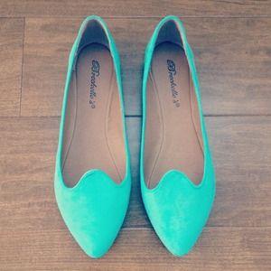 Breckelle Shoes - Mint green flats