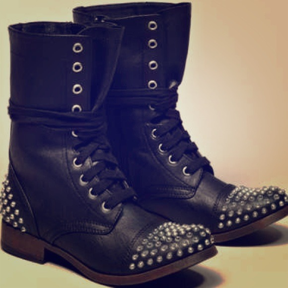 50% off American Eagle Outfitters Shoes - Black studded Combat ...