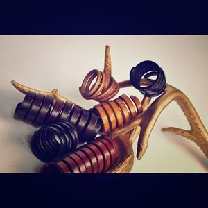 Radolpho Morello hand made leather wrap bracelets