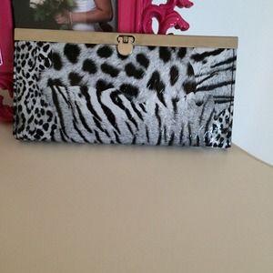 Zebra print skinny wallet.