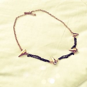Gold and Black Necklace (NWOT)