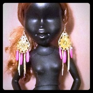 Teardrop chandelier earrings