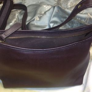 Auth Brn Coach shoulder bag