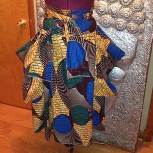 Wax print skirts.