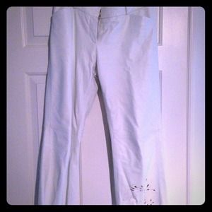 Pants - White Leather Pants