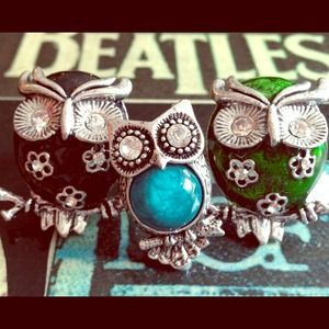 Jewelry - REDUCED!!!!! 3 owl rings