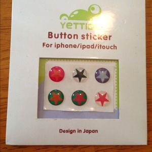 Jewelry - Iphone, ipad, itouch home button stickers