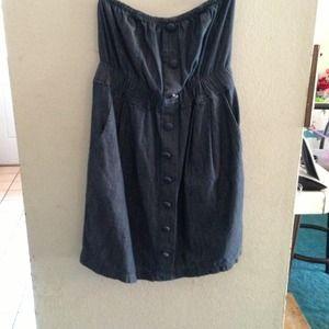🔆reduced!!!🔆Large denim strapless dress