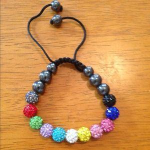 Jewelry - 11 clay crystal bead shamballa bracelet