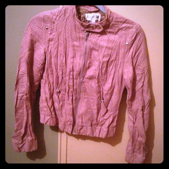 Forever 21 Jackets & Blazers - Forever 21 pink suede jacket
