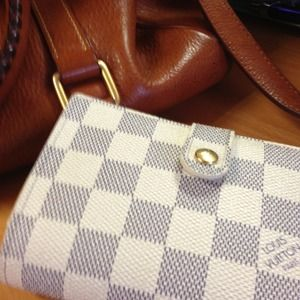 💯Authentic LV French Wallet in Damier Azur