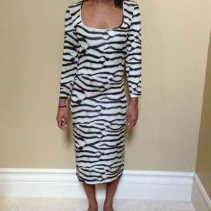 Just Cavalli Leopard Print 3/4 Sl. Dress 44 NWT