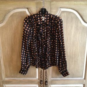 Just Cavalli Multi Color Ruffled Blouse 40 NWT