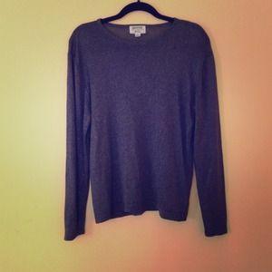 ***Silver sparkle light sweater.